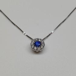 Armonie by Progetti Oro - Girocollo zaffiro e diamanti