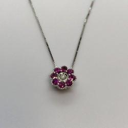 Armonie by Progetto Oro - Girocollo diamante e rubini