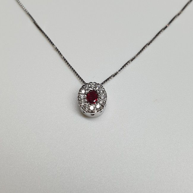 Armonie by Progetti Oro - Girocollo rubino e diamanti