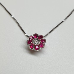 Armonie by Progetti Oro - Girocollo rubini e diamante