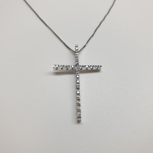 Armonie by Progetti Oro - Girocollo croce diamanti