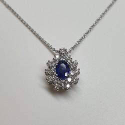 Crivelli - Girocollo zaffiro e diamanti