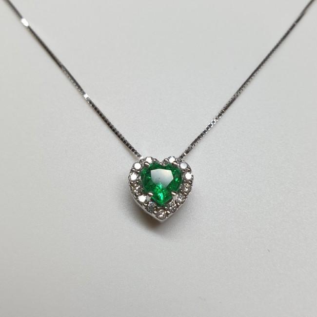 Armonie by Progetti Oro - Girocollo smeraldo e diamanti
