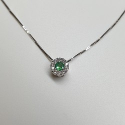 Armonie-by-Progetti-Oro-Girocollo-oro-bianco-smeraldo-tondo-e-diamanti-p39a
