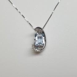 Armonie by Progetti Oro - Girocollo acquamarina e diamanti