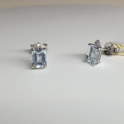 Armonie by Progetti Oro - Orecchini acquamarina e diamanti