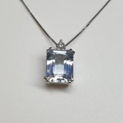 Armonie by Progetti Oro - Girocollo acquamarina e diamante