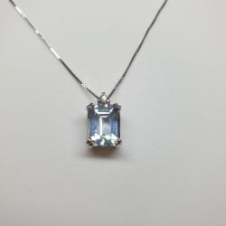 Armonie by Progetti Oro- Pendente acquamarina e diamante