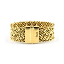 unoaerre-bracciale-bronzo-dorato-maglia-tessuto-chicco-di-riso-exb4222