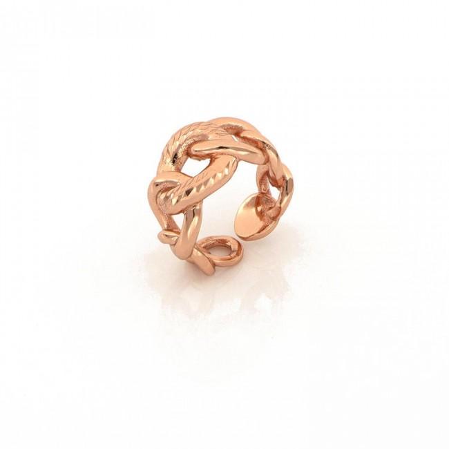 unoaerre-anello-bronzo-rosa-maglia-grumetta-exa065
