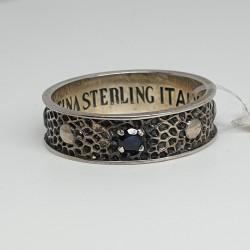 Maria-Cristina-Sterling-Anello-argento-sterling-pietra-nera-g2952
