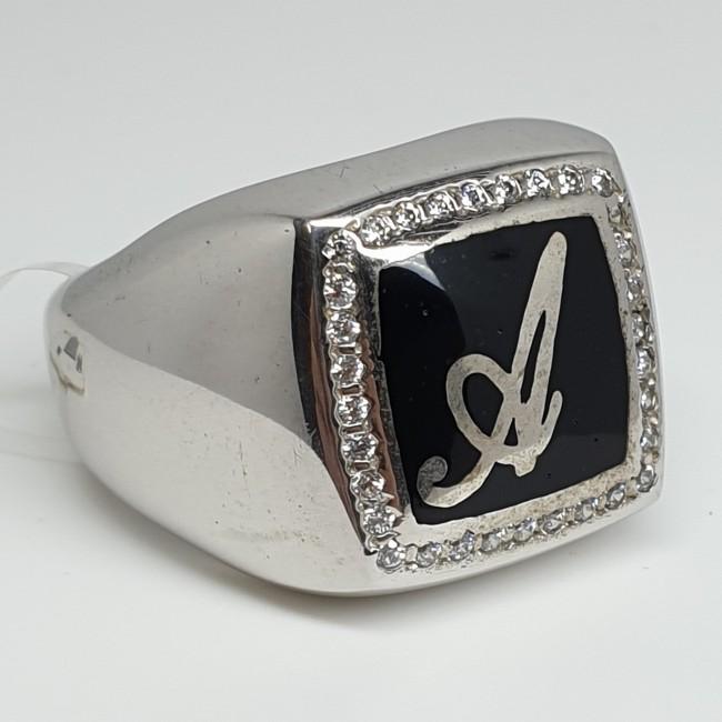 Anello-Argento-rodiato-smalto-nero-e-cristalli-bianchi-iniziale-A-a47
