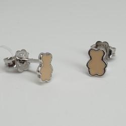 Nanàn-Orecchini-argento-rodiato-orsetto-smalto-rosa-Nan0080