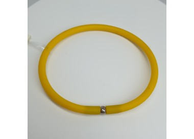 Flo-Bracciale-caucciù-giallo-chiusura-argento-olst