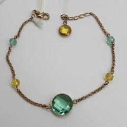 Urigold-Bracciale-in-argento-rosato-con-pietre-dure-giallo-verde-oopa