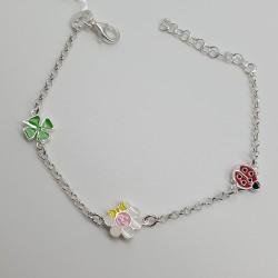 Bracciale-Argento-con-quadrifoglio-coccinella-e-fiore-smalti-colorati-p6eq