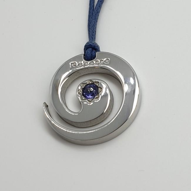 Rebecca-Pendente-acciaio-lucido-con-pietra-naturale-viola-ohgw