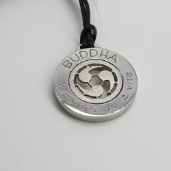 Rebecca-Pendente-acciaio-lucido-e-satinato-Buddha-il-centro-della-vita-Xcsmxx77