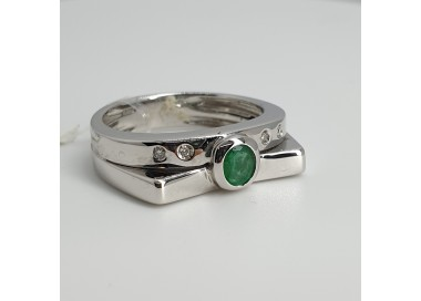 Davite-et-Delucchi-Anello-oro-bianco-diamanti-e-smeraldo-Ancol810