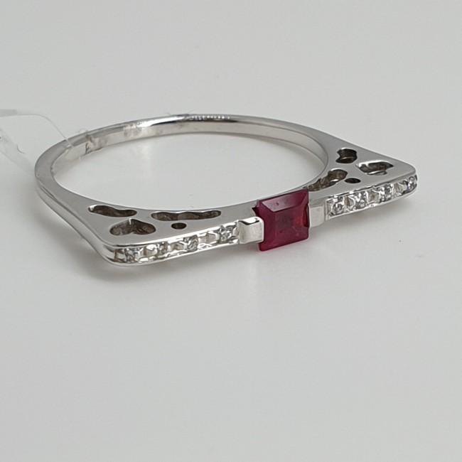 Recarlo-Anello-oro-bianco-diamanti-rubino-Omhj