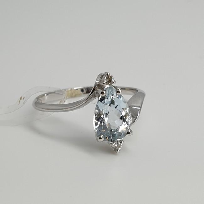 Armonie-by-Progetti-Oro-Anello-oro-bianco-diamanti-acquamarina-Otoh