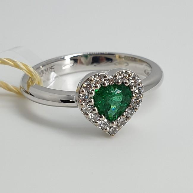 Armonie-by-Progetti-Oro-Anello-oro-bianco-diamanti-smeraldo-P5l0