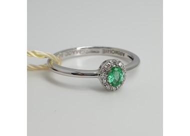 Armonie-by-Progetti-Oro-Anello-oro-bianco-diamanti-smeraldo-P5l3