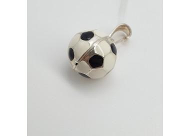 Ciondolo-Argento-rodiato-pallone-da-calcio-smaltato-p0qh