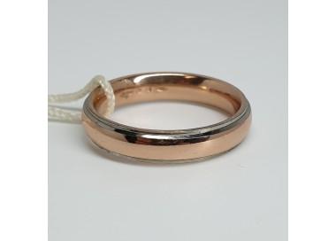 unoaerre-fede-comoda-oro-rosa-bordi-bianchi-4mm