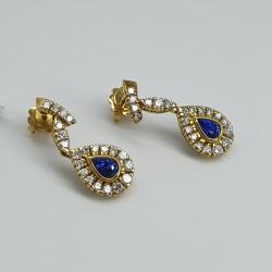Cavalli-Orecchini-pendenti-oro-giallo-con-diamanti-e-zaffiri-taglio-goccia-cv7-0-58-59