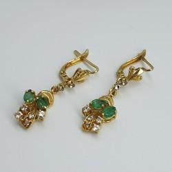Imma-Orecchini-pendenti-oro-giallo-diamanti-e-smeraldi-isbpr506