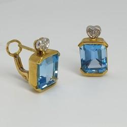 Orecchini-perno-clip-in-oro-giallo-e-oro-bianco-con-diamanti-e-topazi-azzurri-ncld