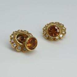Orecchini-oro-giallo-con-dischetto-diamanti-removibile-e-quarzo-citrino-ngl3