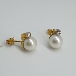 Orecchini perle e diamanti