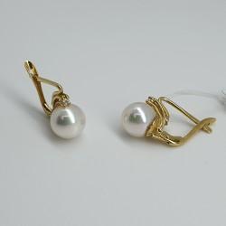 Orecchini-perno-clip-oro-giallo-perle-naturali-di-mare-e-diamanti-os93