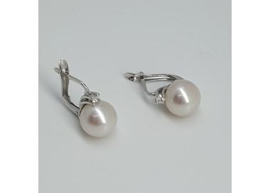 Armonie-by-progetti Oro-Orecchini-oro-bianco-perle-naturali-acqua-mare-diamanti-p5sf