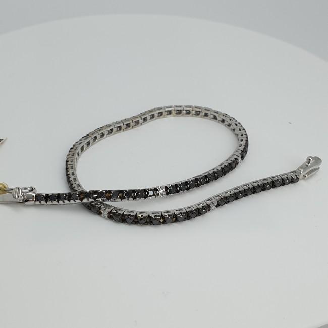 Armonie-by-Progetti-Oro-Bracciale-tennis-oro-bianco-diamanti-neri-bianchi-p5y5