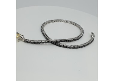Armonie-by-Progetti-Oro-Bracciale-tennis-oro-bianco-diamanti-neri-p5yc