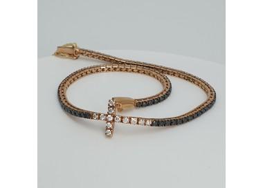 Armonie-by-Progetti-Oro-Bracciale-tennis-oro-giallo-diamanti-bianchi-neri-P5yf