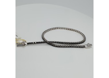 Armonie-by-Progetti-Oro-Bracciale-tennis-oro-bianco-diamanti-neri-P5yj