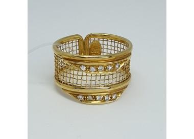 Bonini-Anello-oro-giallo-rete-con-diamanti-taglio-brillante-be27-567-g1