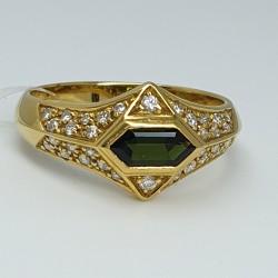 Anello diamanti e tormalina