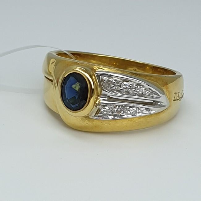 davite-et-delucchi-anello-oro-giallo-con-zaffiro-e-diamanti-taglio-brillante-fh327aa-g1