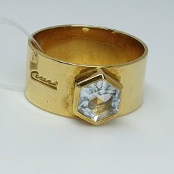 Cesari-Anello-fascia-oro-giallo-con-acquamarina-taglio-esagonale-Gu7-546-g1