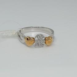 LeBebè-Anello-oro-bianco-e-oro-giallo-bimba-con-diamanti-taglio-brillante-lbb112