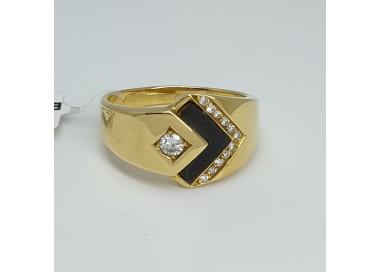 Anello-oro-giallo-con-diamanti-taglio-brillante-e-titanio-ne37