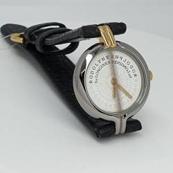 Longines-Orologio-donna-Rodolphe-cassa-acciaio-laminato-oro-quadrante-bianco-cinturino-pelle-Ln13923904-wg