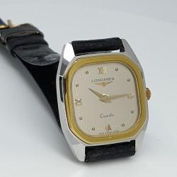 Longines-Orologio-donna-cassa-bicolore-acciaio-laminato-oro-cinturino-pelle-Ln42905207-wc