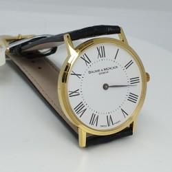 Baume-et-Mercier-Orologio-cassa-oro-giallo-18kt-quadrante-bianco-cinturino-alligatore-nero-M0a08070