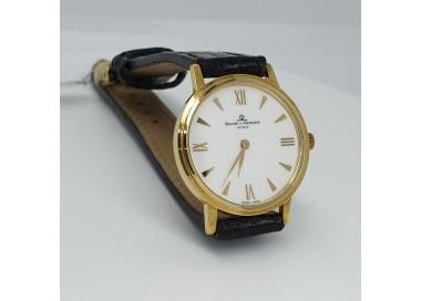 Baume-et-Mercier-Orologio-donna-cassa-oro-giallo-18kt-movimento-al-quarzo-quadrante-bianco-cinturino-alligatore-nero-m0a08072